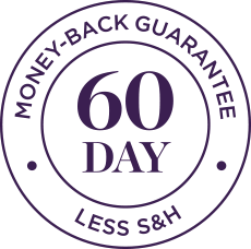 60-Day Money-Back Guarantee Less Shipping and Handling circle image