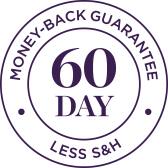 60 day money back guarantee less shipping and handling